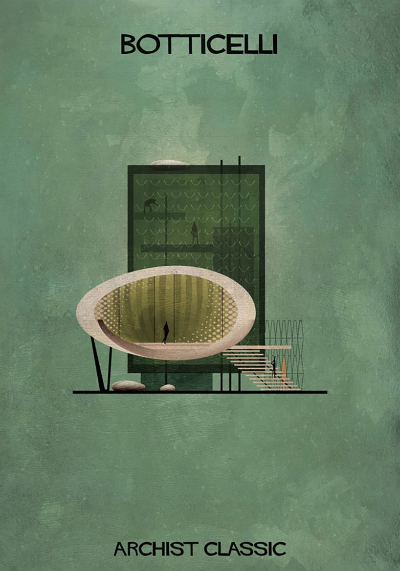Architetti Famosi Antichi federico babina captures famous artists as architectural