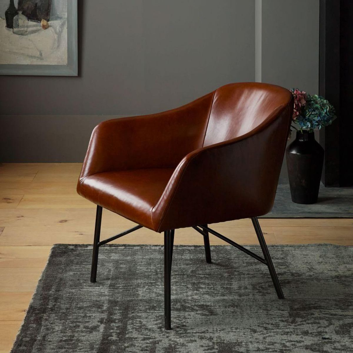 Leather bucket chair from west elm furniture love pinterest