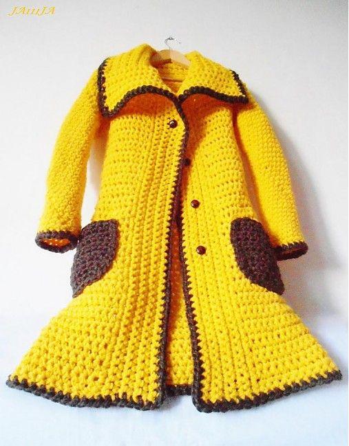 Yellow alpaKAbát   Ja111Ja - SAShE.sk - Handmade Kabáty  69b701200dc