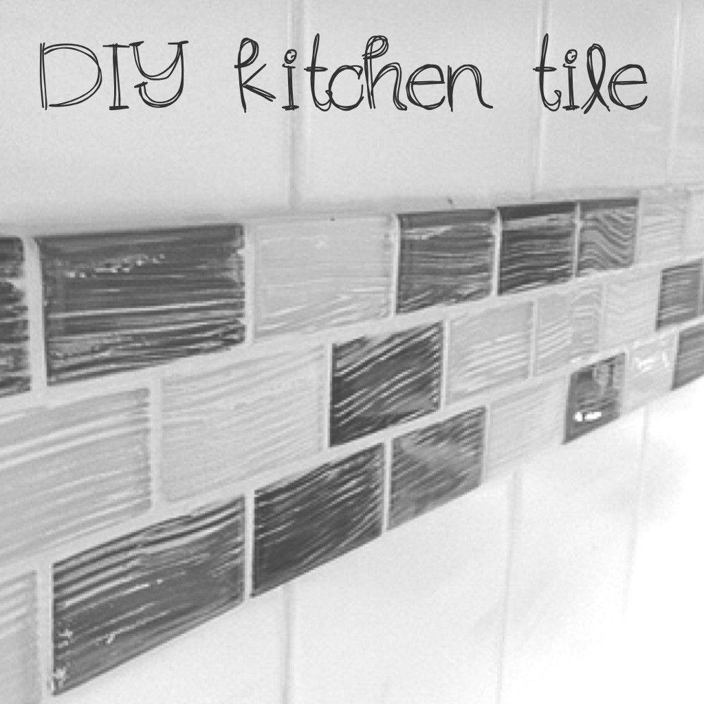 DIY kitchen backsplash quick fix over existing tile BECAUSE