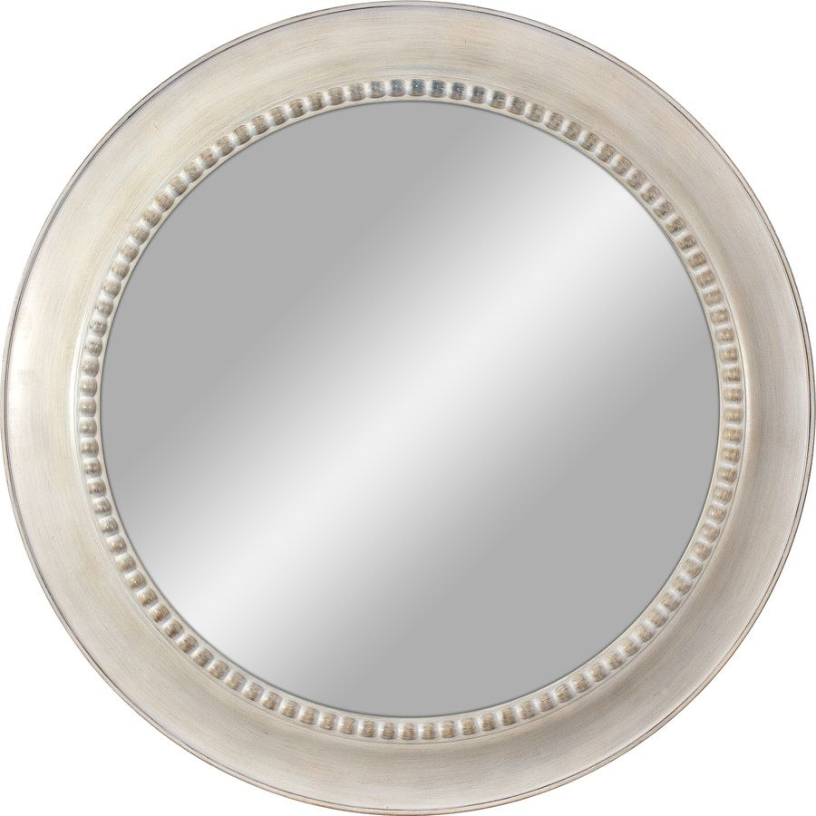 30 In L X 30 In W Round White Polished Wall Mirror Lowes Com Round White Mirror White Wall Mirrors Mirror Wall