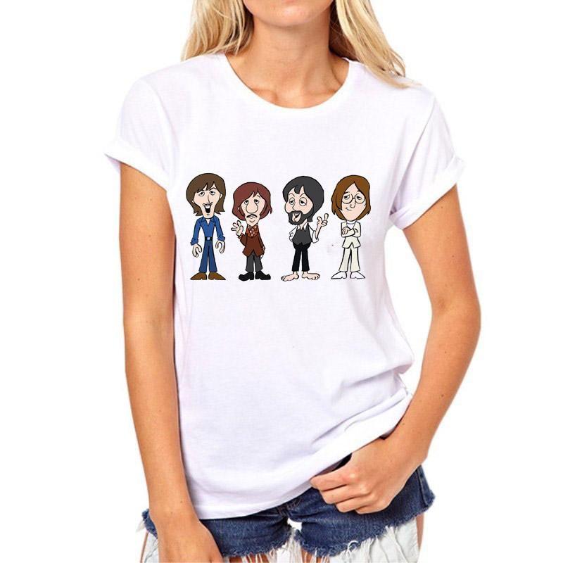The Beatles Girls Cartoon Shot T-Shirt
