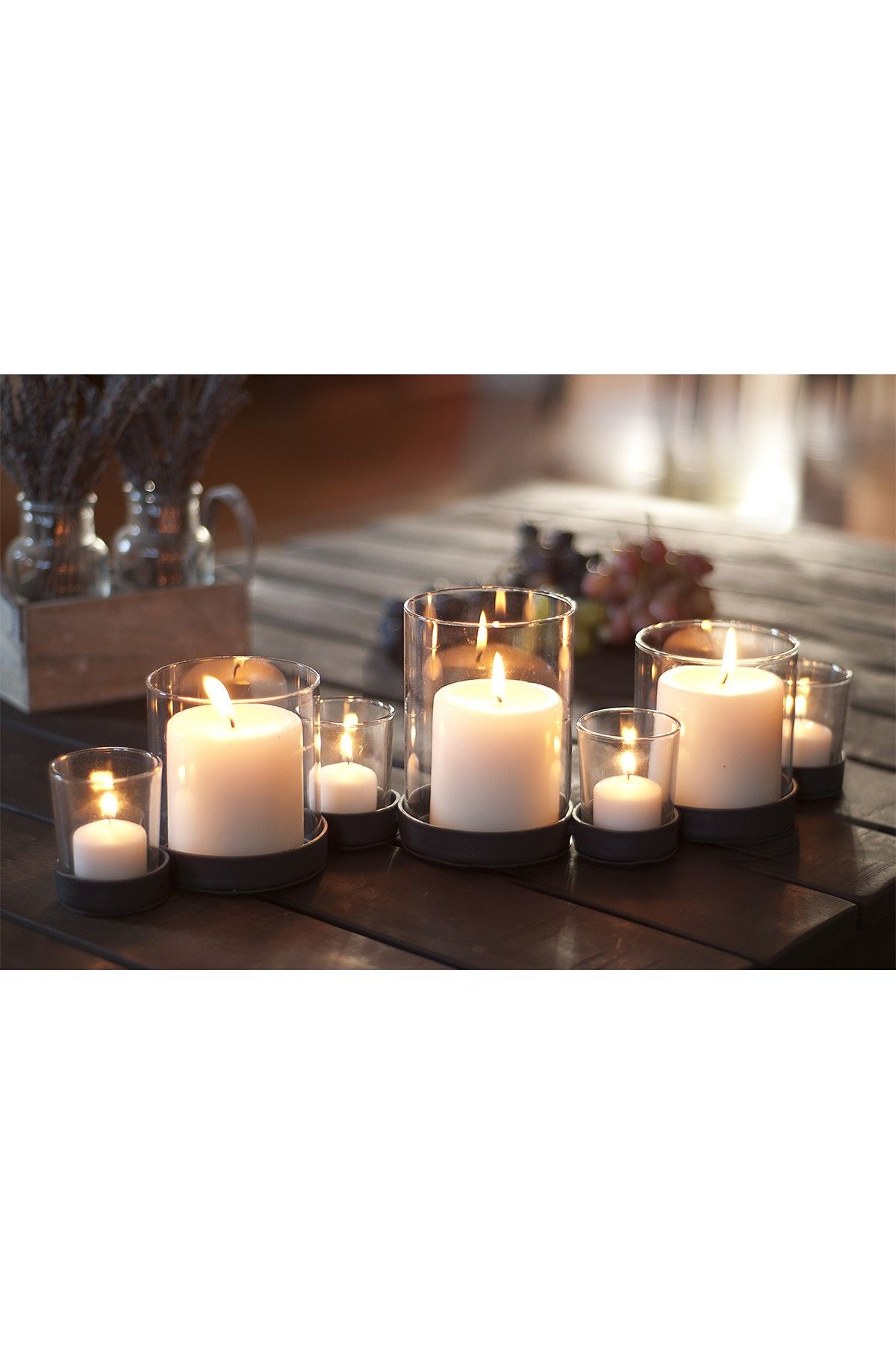 Seven Candle Bubbles Multiple Candle Holder