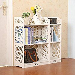 D Line Wood And Plastic Bookcase Bookshelf Storage Shelf White Set Of 2