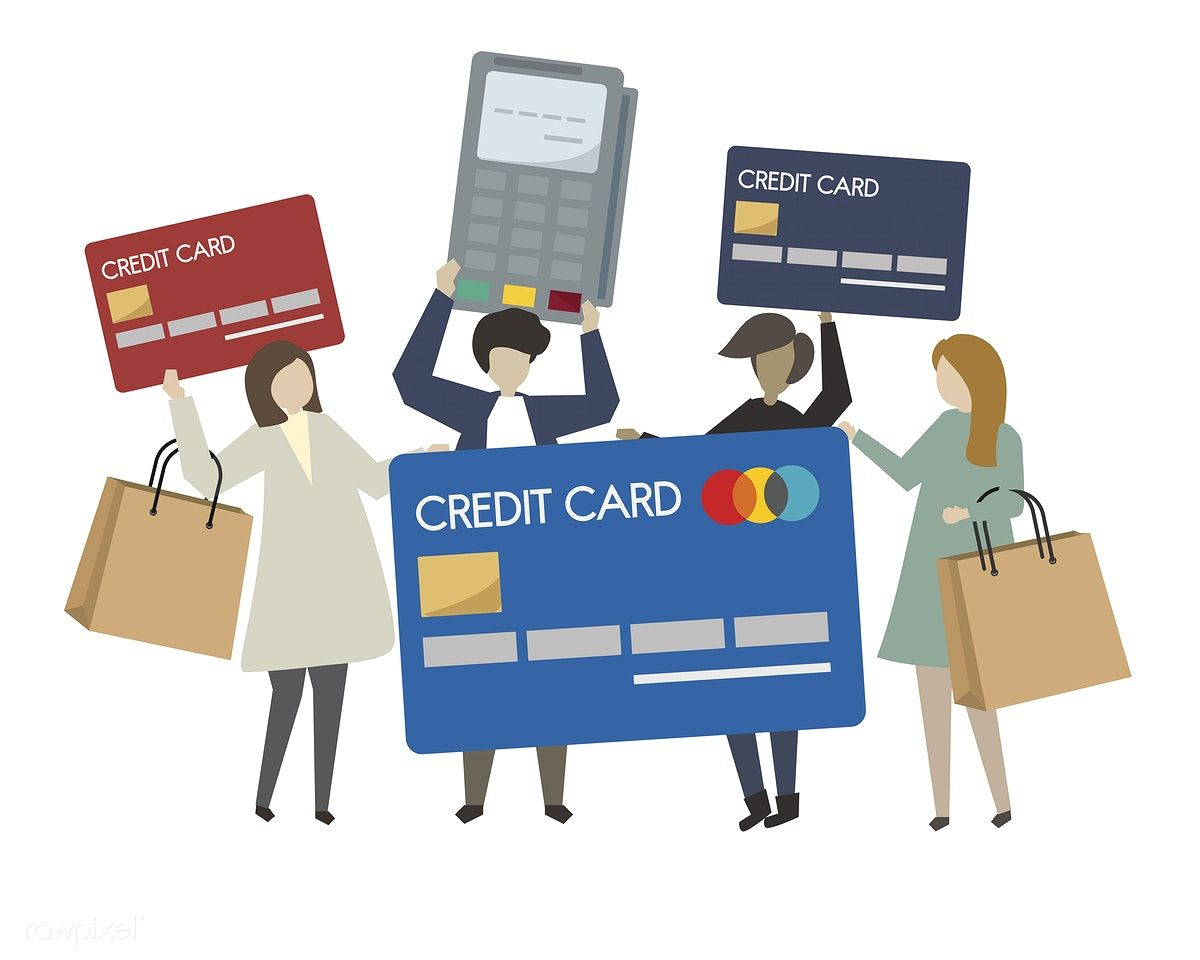 Download premium vector of people shopping with credit