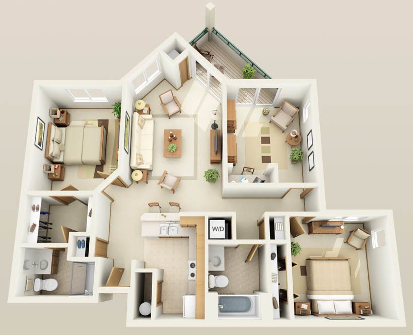 Three Bedroom Townhouse Floor Plan Interesting New in House Designer bedroom