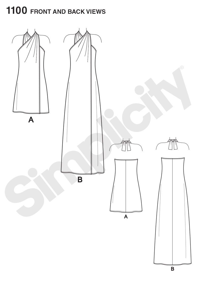 Simplicity 1100 Misses' Super Jiffy Cover Up in Two Length