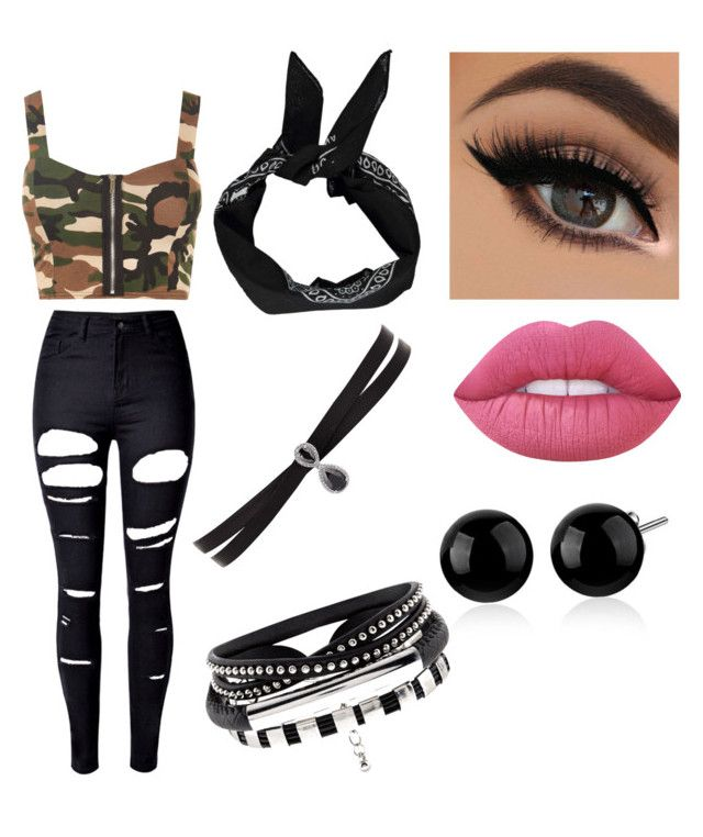 """""""Untitled #205"""" by ewalciar on Polyvore featuring WithChic, WearAll, Lime Crime, Boohoo and Fallon"""
