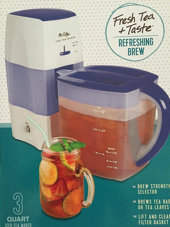 Mr. Coffee Iced Tea Maker 3 Quart with Brew Strength