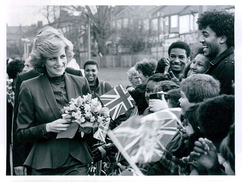 February 1, 1985 Princess Diana meets the public during a