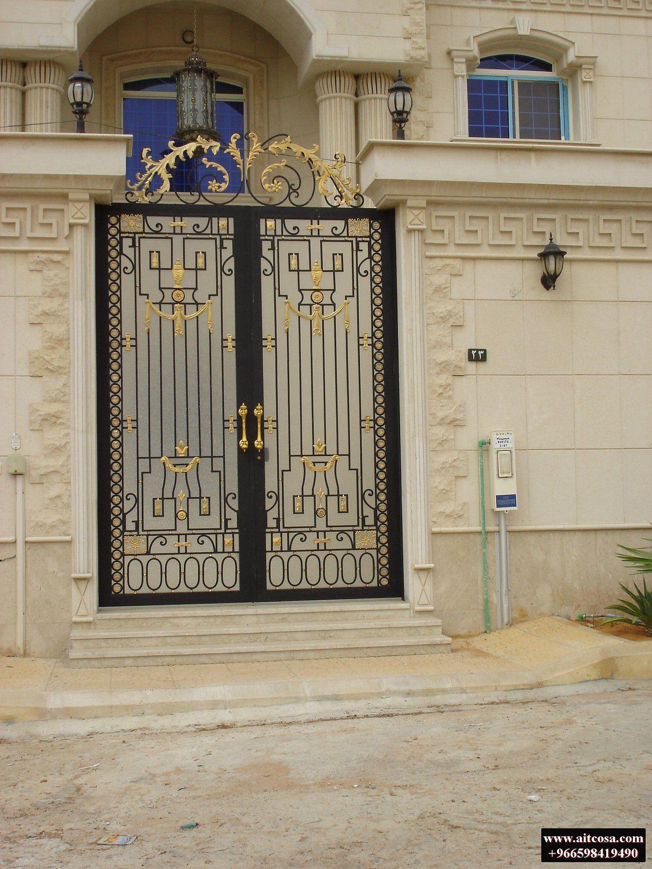 Pin By Mhamed On ابواب خارجية Steel Door Design Iron Security Doors Door Gate Design