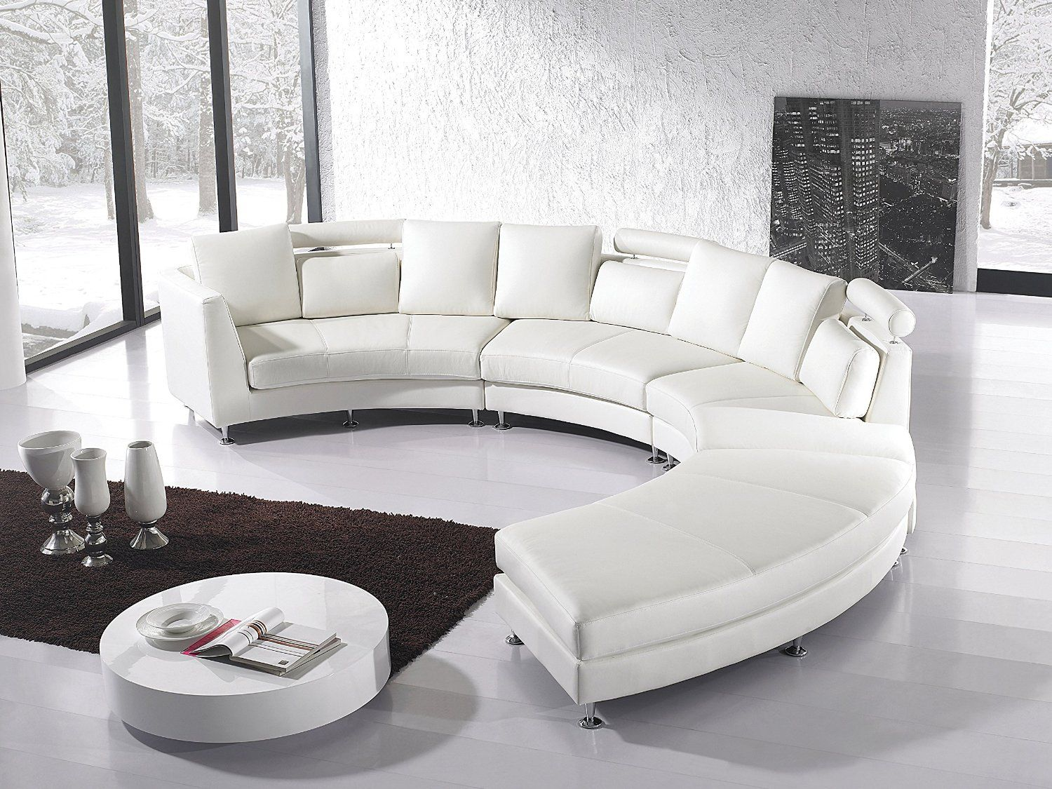 Round Sectional Sofa White Http Makerland Org How To Arrange  ~ Living Room Arrangements With Sectional Sofa