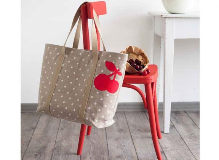 Faire soi-même ses cadeaux : un sac cabas pour le marché - Motifs et Compagnie - Chloé et Léa Eve - Mango