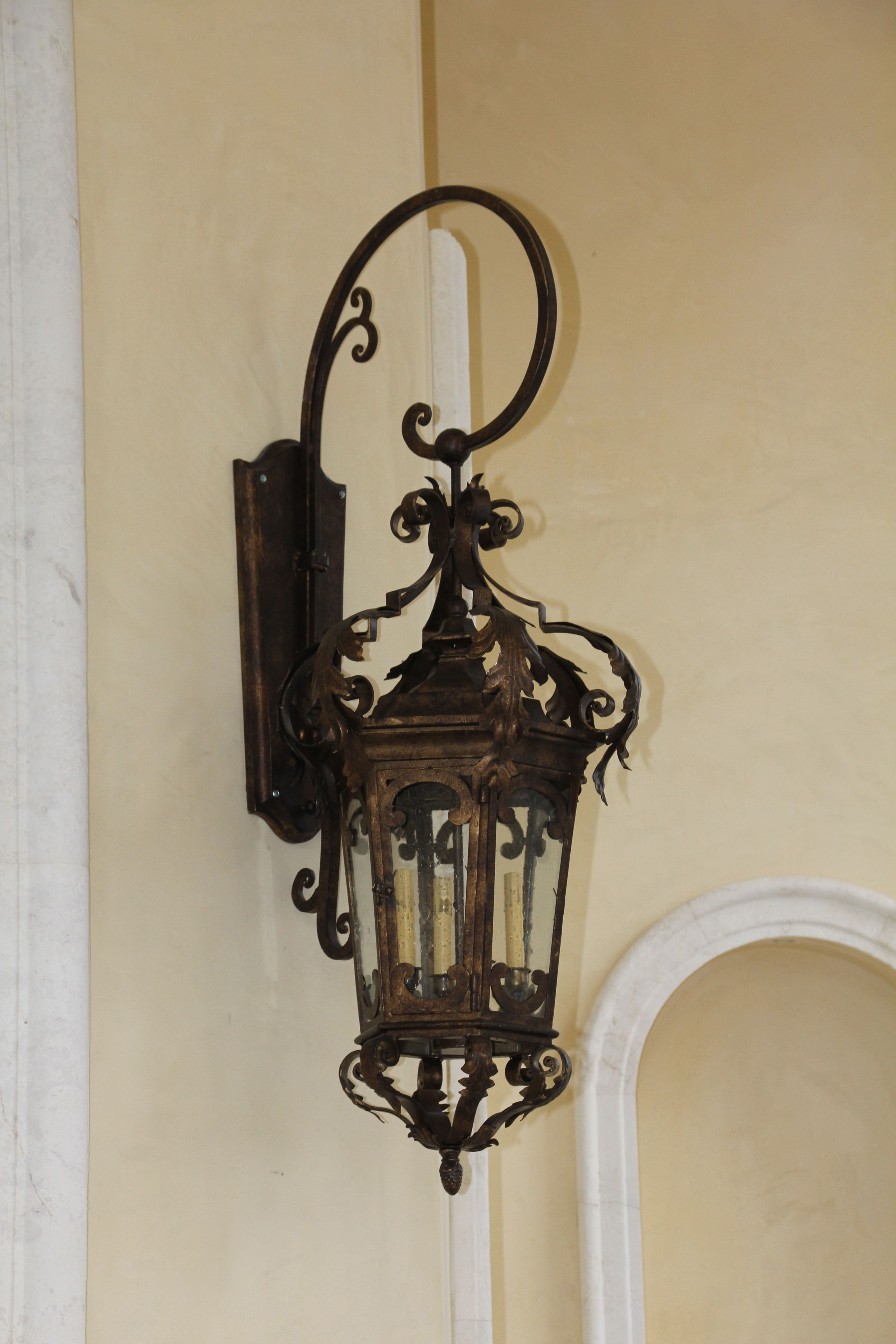 Hand Forged Iron Exterior Lantern By