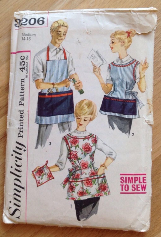 Mid-century apron sewing pattern