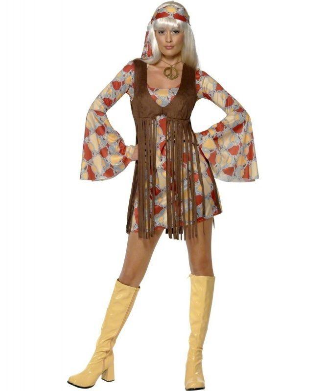 Stroj Karnawalowy Powabna Hipiska Sprawi Ze Poczujesz Zew Wolnosci I Milosci Tak Jak Dzieci Kwiaty 70s Fancy Dress Ladies Fancy Dress Ladies 70s Fancy Dress