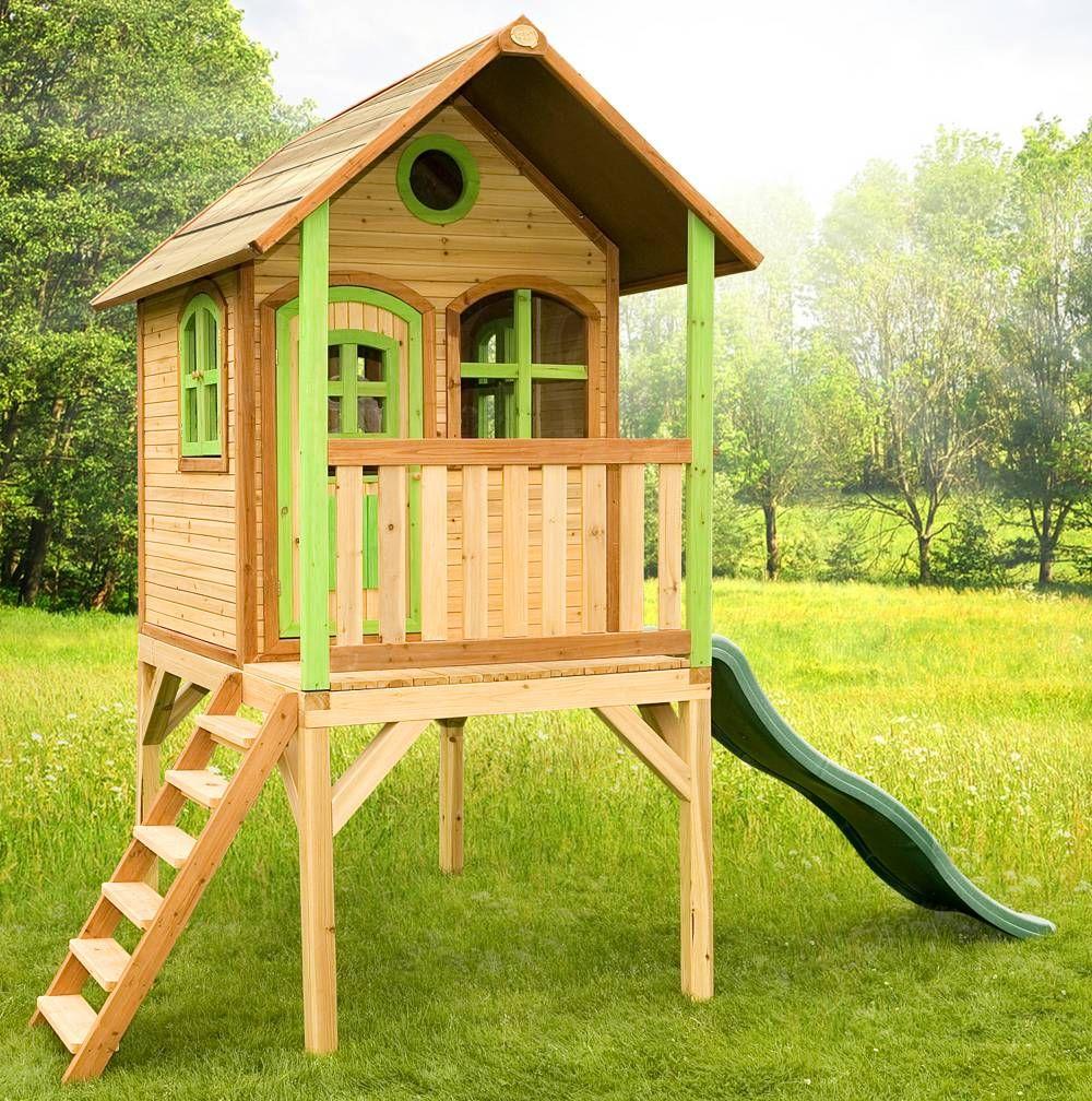 Axi Spielhaus Laura auf Stelzen mit Rutsche, Holz