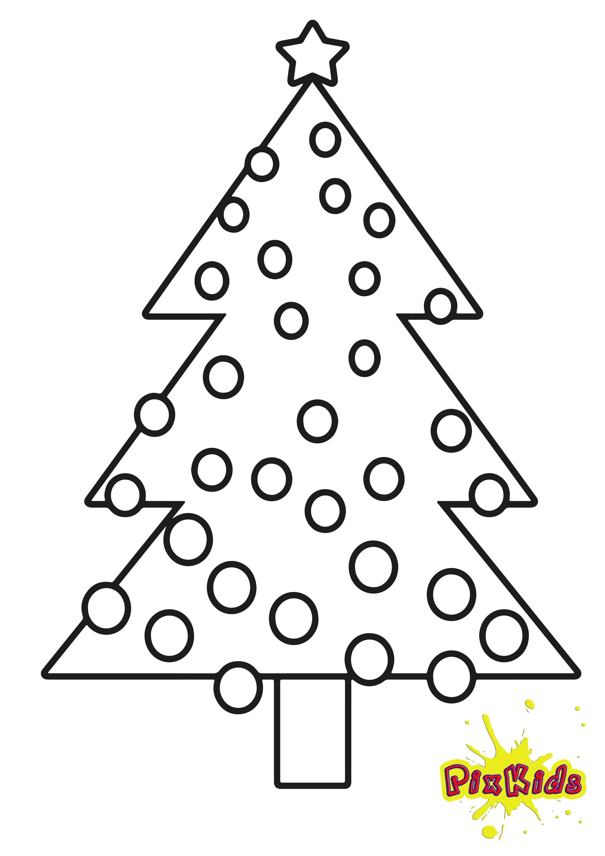 Malvorlage Weihnachtsbaum als Ausmalbild kostenlos | Vorlagen ...