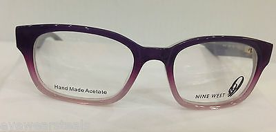 NEW AUTHENTIC NINE WEST 151 COL 0JVP PURPLE PLASTIC EYEGLASSES FRAME NV151