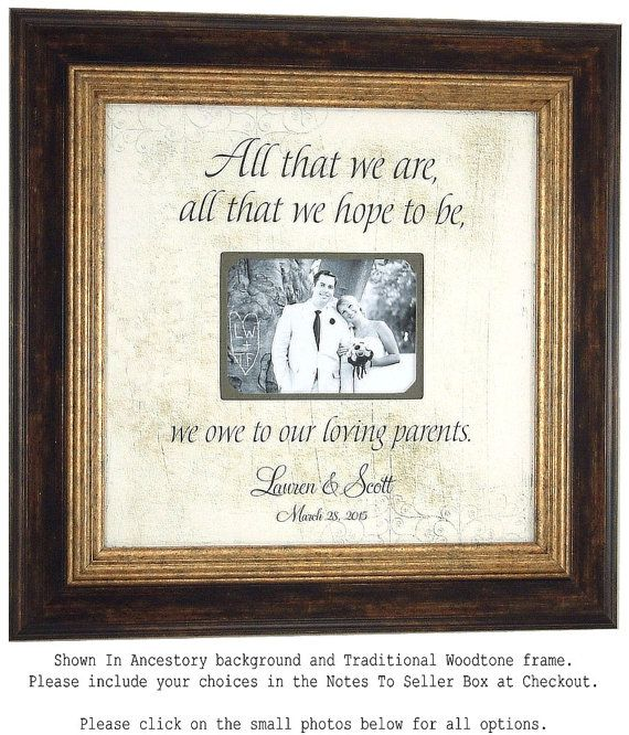 Wedding Picture Frame, Parents Wedding Gift, All That We Are, Mother ...