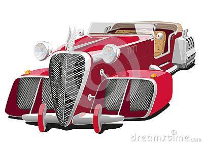 Rode Auto Van De Toekomst Auto Vliegende Auto Rood