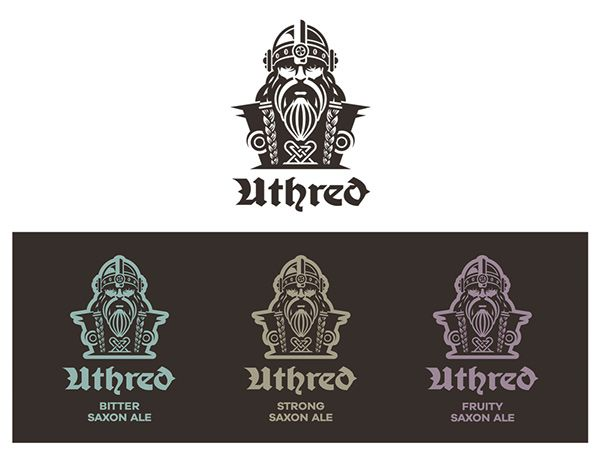 Uthred - Anglo-Saxon Ale on Packaging Design Served