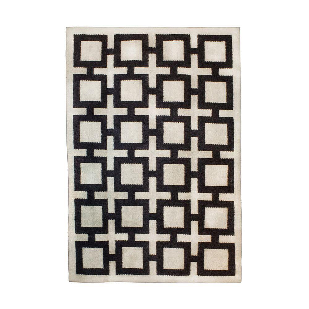 black and white rug patterns. Jonathan Adler - Nixon Rug Black / Natural And White Patterns