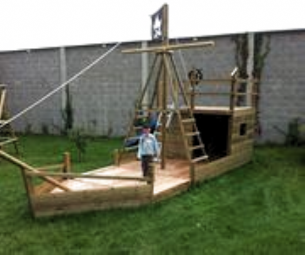 Piratenschiff Im Garten Diy Playground Outdoor Kids Play Area Pirate Ship
