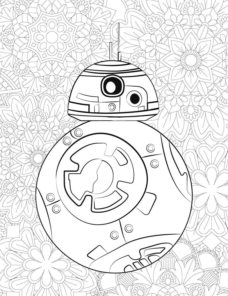 free coloring pages and star wars | FREE Star Wars Printable Coloring Pages: BB-8 & C2-B5 ...