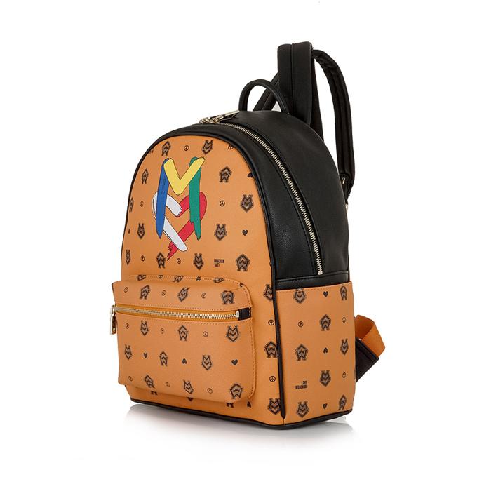 bd85571007 LOVE MOSCHINO καμηλό τσάντα πλάτης