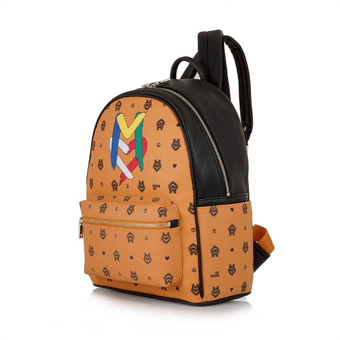 LOVE MOSCHINO καμηλό τσάντα πλάτης  3315ea32003