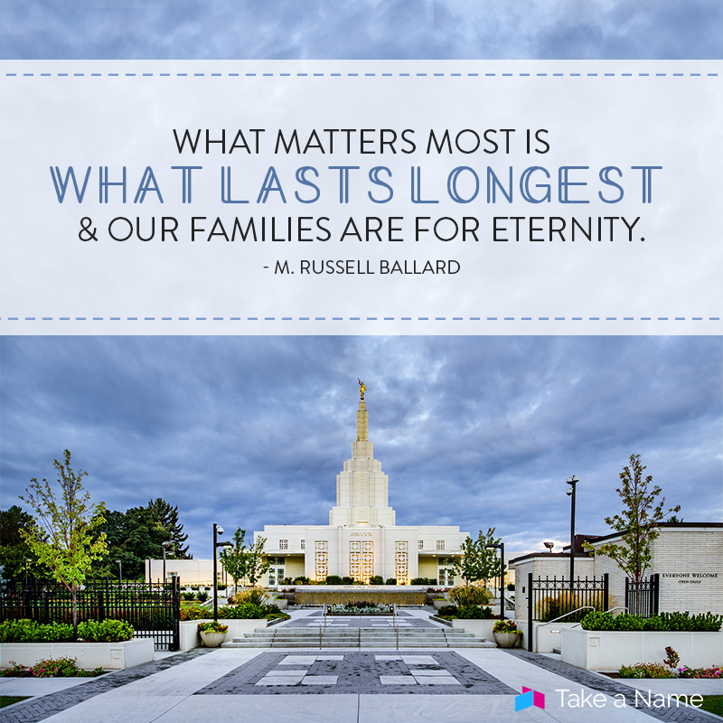 What matters most is what lasts longest, and our families are for