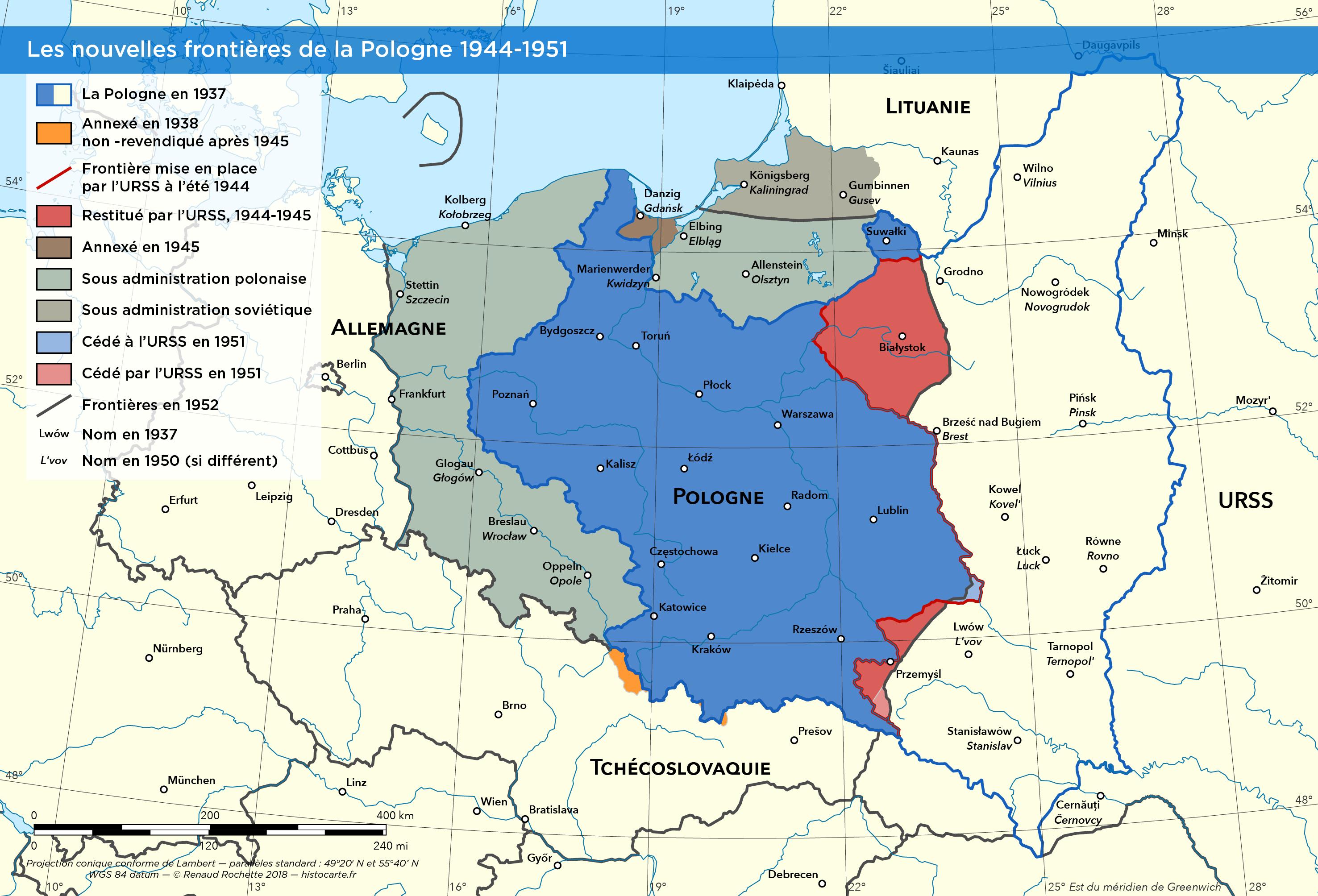 La Pologne Au Lendemain De La Seconde Guerre Mondiale Pologne Guerre Mondiale Guerre