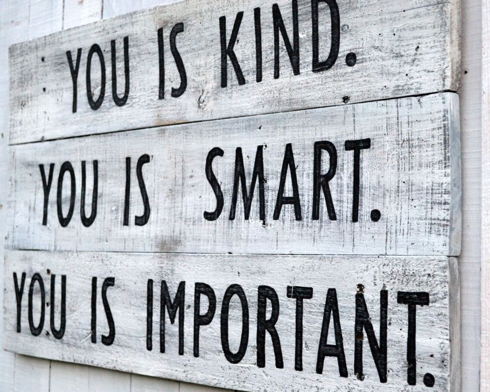 Vintage Wall Art you is kind sign, vintage sign, vintage wall art, black and white