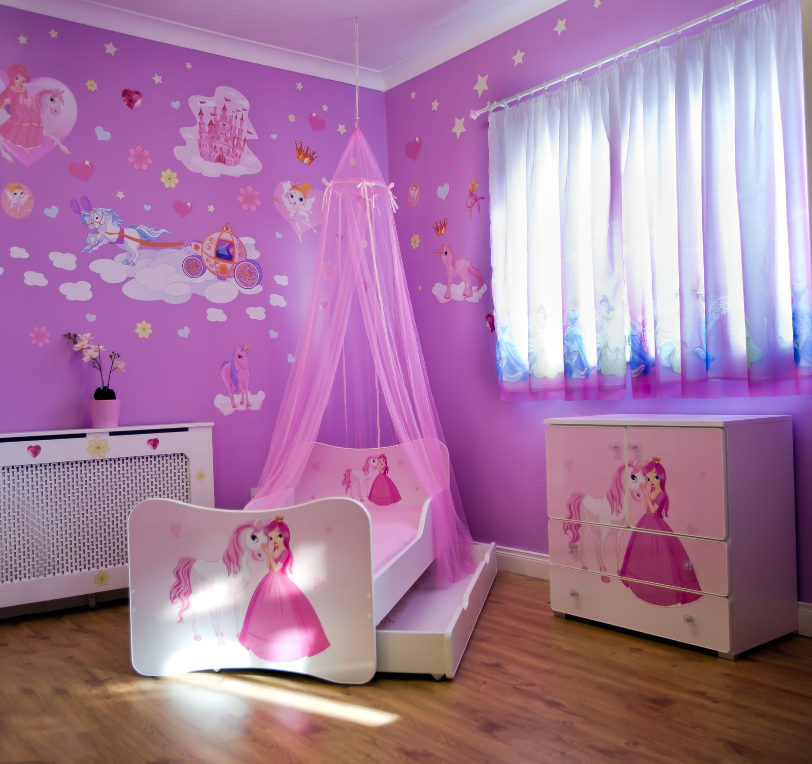 Kids Princess Beautiful Pink Bed Canopy New For Girls