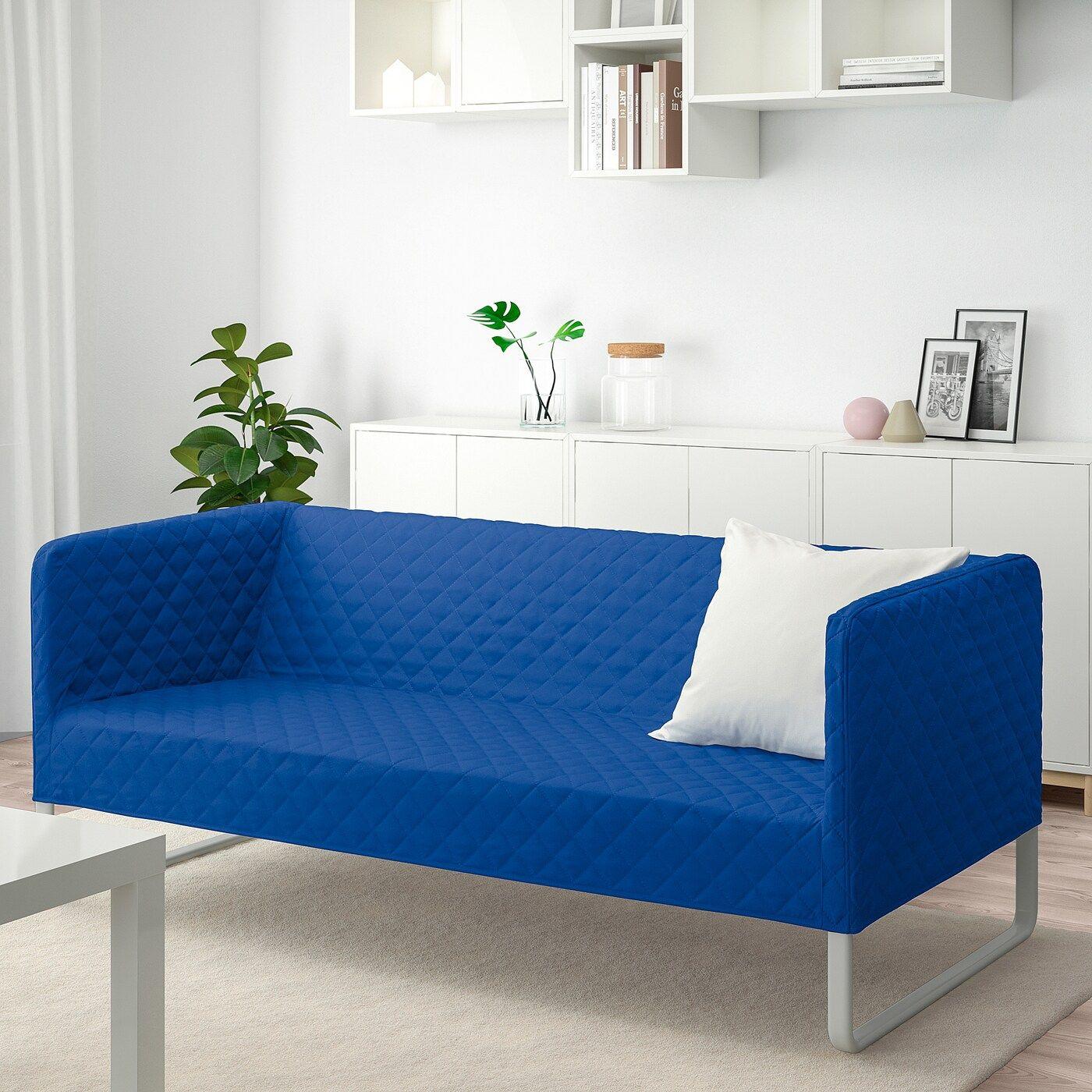 Knopparp Sofa Knisa Bright Blue In 2020 Sofa Small Sofa