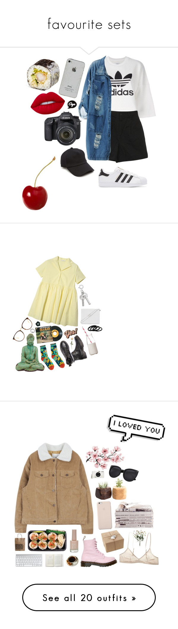 """""""favourite sets"""" by annnnnnnnnn ❤ liked on Polyvore featuring Lime Crime, rag & bone, adidas Originals, Chicnova Fashion, Eos, Topshop, Limedrop, Anya Hindmarch, Dress My Cupcake and BCBGMAXAZRIA"""