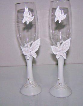 Copas decoradas porcelana fria buscar con google copas - Manualidades para una boda ...
