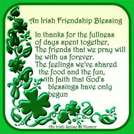 An Irish Friendship Blessing....