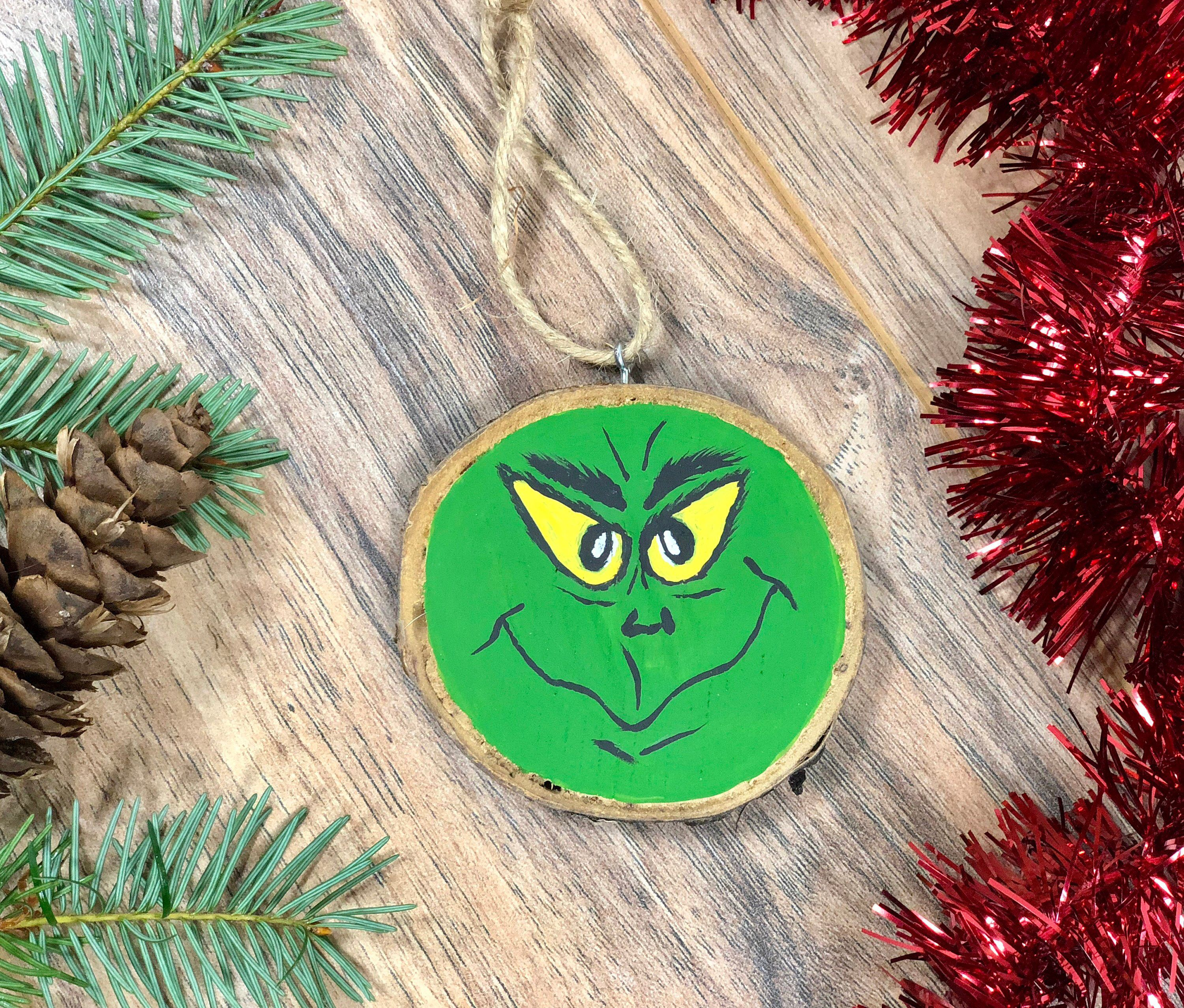 Excited To Share The Latest Addition To My Etsy Shop The Grinch Ornament Wood Slice Christmas Orn Christmas Ornaments Rustic Ornaments Christmas Decorations
