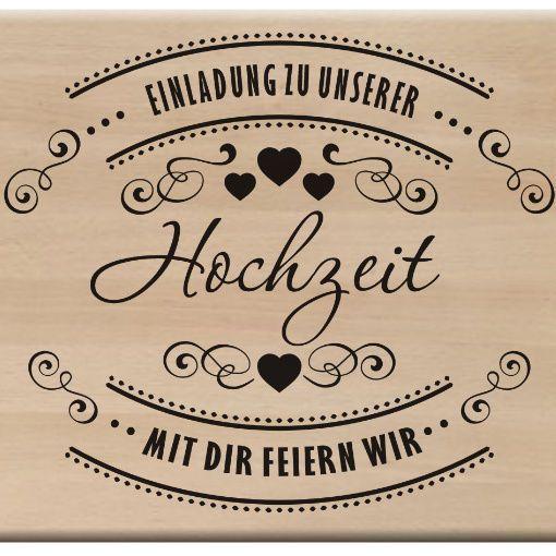 Motivstempel Embossing Stempel Hochzeit Einladung Zur Hochzeit WED 100089  In Möbel U0026 Wohnen, Hobby U0026 Künstlerbedarf, Basteln | EBay