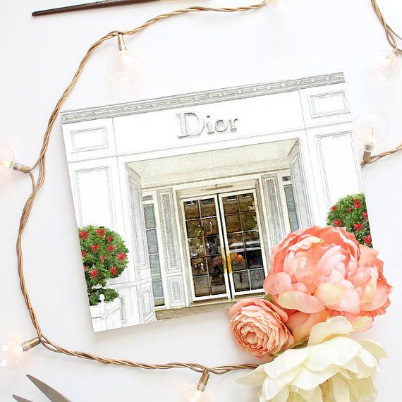 Christian Dior Store Dior Fashion Art Print Fashion