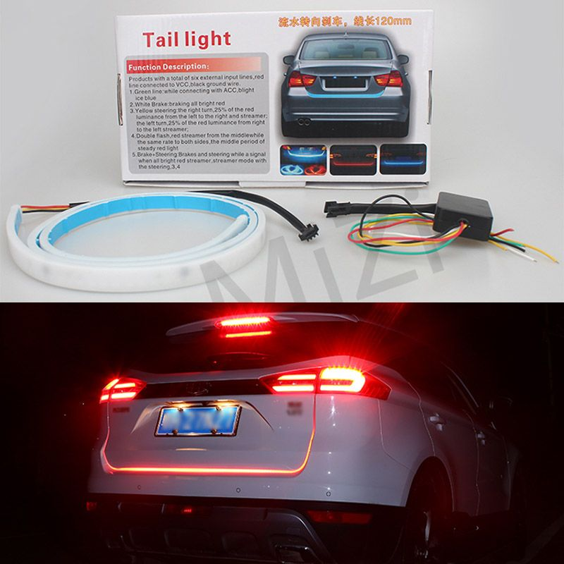 Buy car styling drl leds daytime running light strip trunk light buy car styling drl leds daytime running light strip trunk light with side turn signals rear aloadofball Images