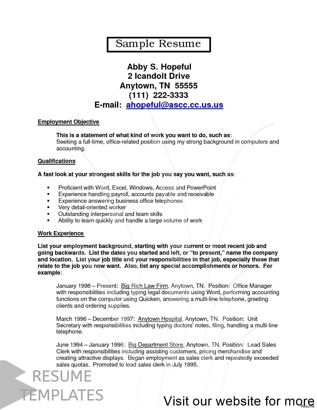 resume examples for freshers (2020) Resume examples, One