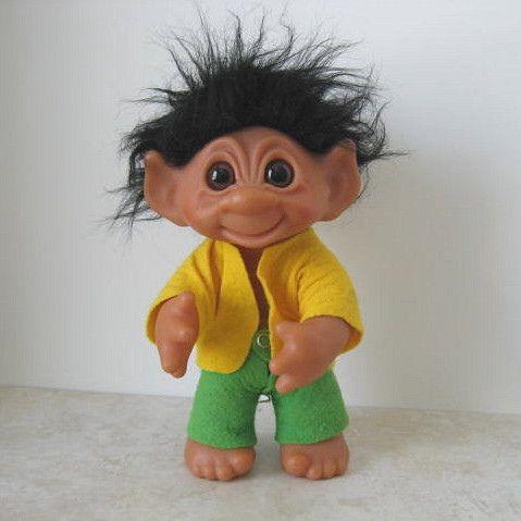 A Black Haired Troll Doll
