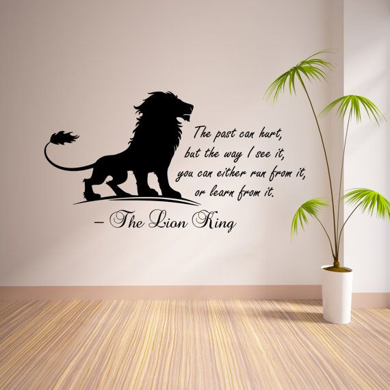 Dream Big Little One Lion King Simba And Mufasa Home Wall Decal Quotes Sticker