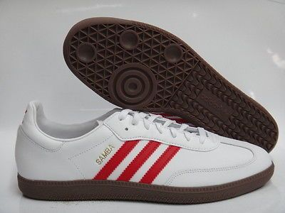 bbddd4f37 ... uk adidas samba white red brown sneakers mens size 7.5 d1f77 1d26c