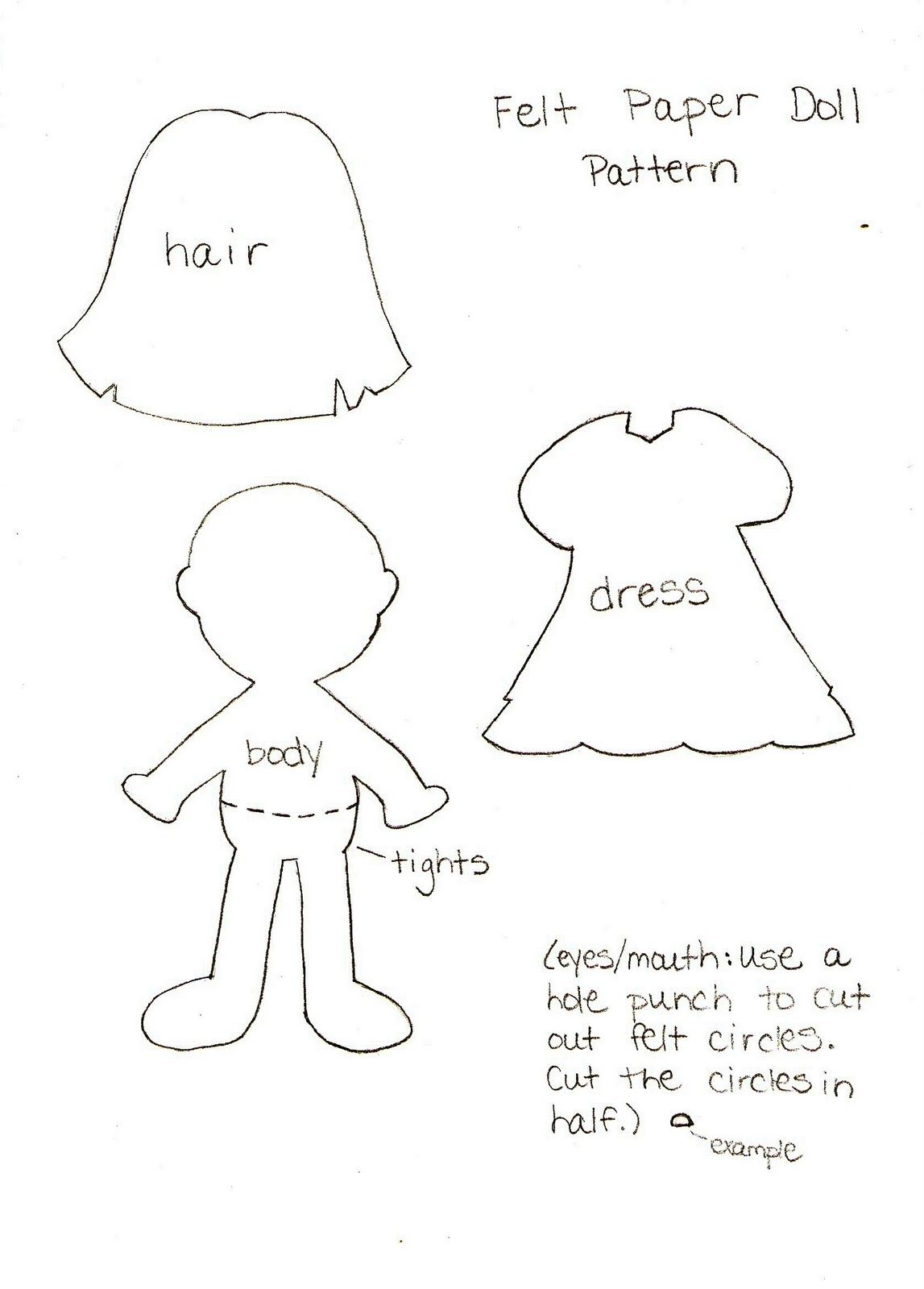 graphic relating to Free Printable Felt Doll Patterns referred to as Felt Paper Doll Routine SSShhh Textbooks Paper doll template