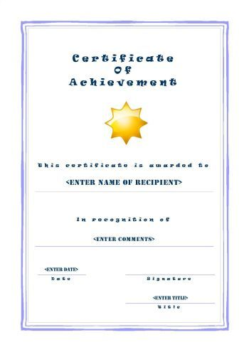 Free Printable Certificates of Achievement - A4 Portrait - Casual - printable certificates of completion