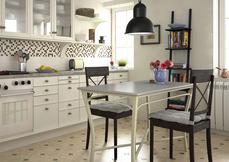 Equipe Octagon Marmol Beige 20x20 Bathroom Floor Tiles